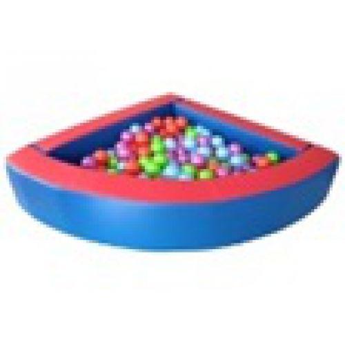 Детский сухой бассейн угловой 180*180*h40*b10