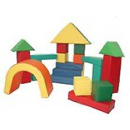 Детский конструктор «Строитель» (24 модуля)(Размер: куб 25см)