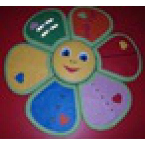 Детский дидактический мат «Цветочек» Ø 90 *5 см