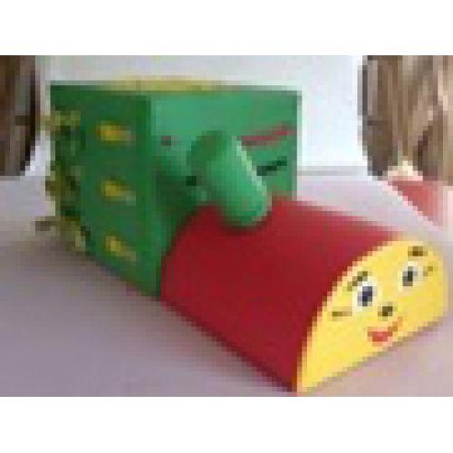 Детская дидактическая игрушки «Паровозик»