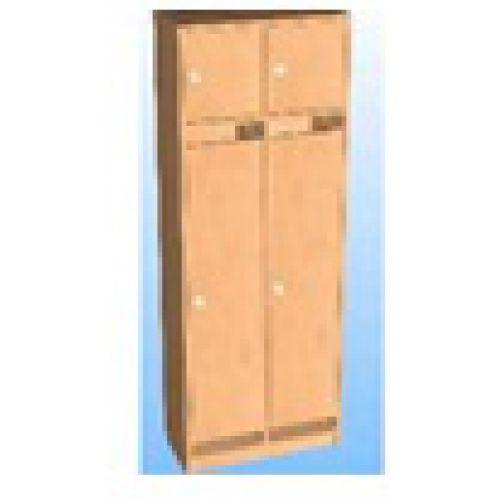 Шкаф д/одежды 2-х секционный фасад прямой с антресолью бук