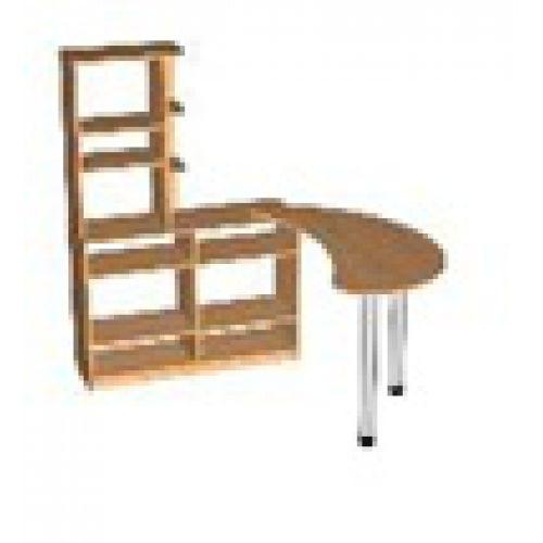 Стол для воспитателя со стеллажом