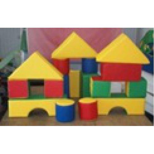 Детский конструктор «Строитель»(16 модулей)(Размер: куб 25см)