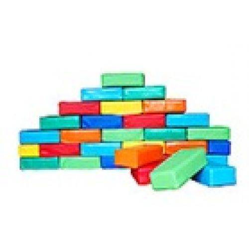 """Детский строительный набор """"Мягкие кирпичики"""" (84 модуля) 20*10*5 см"""