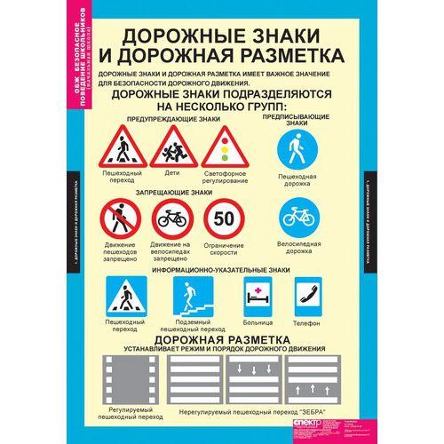 Комплект таблиц Безопасное поведение школьников (нач. школа)