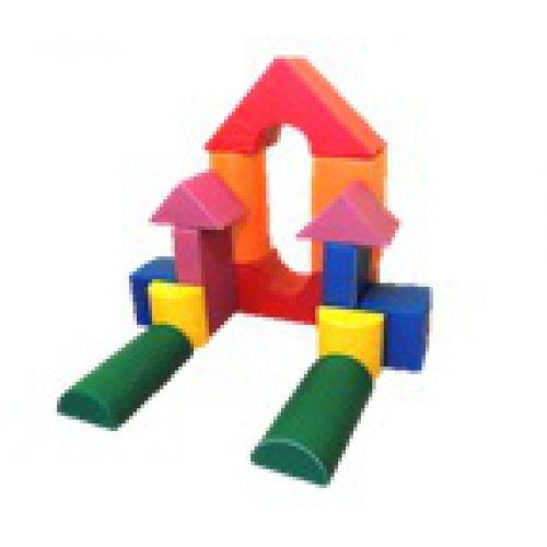 Детский конструктор (14 модулей)(Размер: куб 30см)