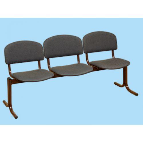 Блок стульев 3-х местный. Неоткидные сиденья.