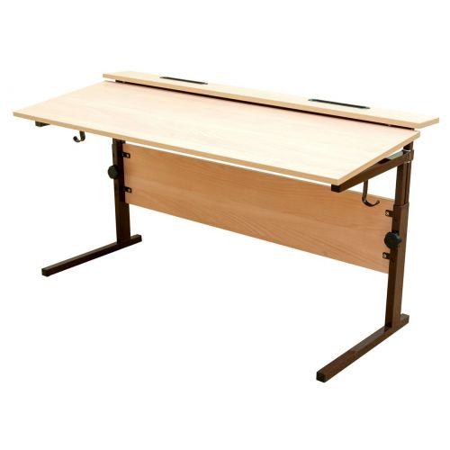 Стол ученический двухместный, регулируемый по высоте (р.гр. №3-6) и наклону столешницы от 0 до 15 гр
