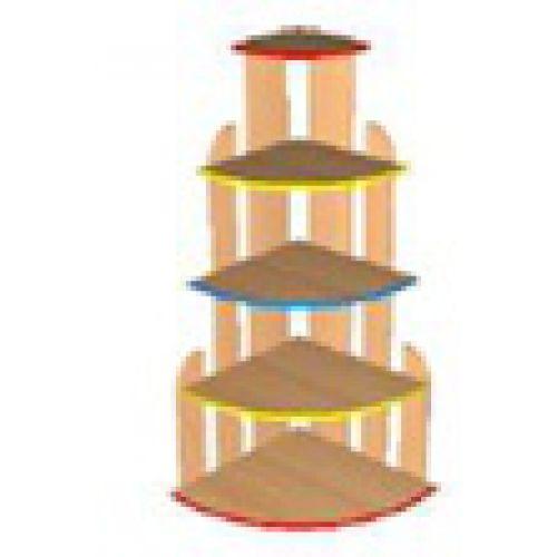 Стеллаж Каскад цвет с цветной кромкой