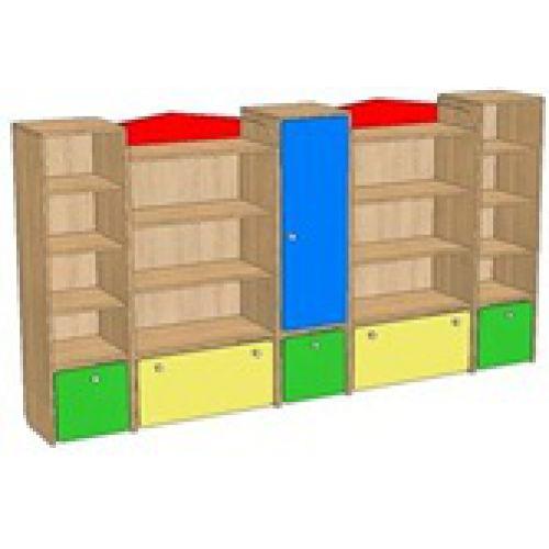 Шкаф-стенка для игрушек цвет