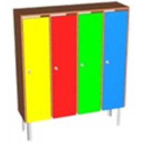 Шкаф детский для одежды на метал. опорах 2 - местный бук