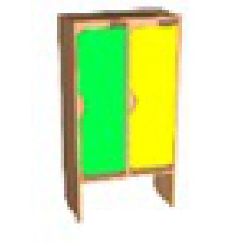 Шкаф д/одежды 2-х секционный фасад фигурный бук