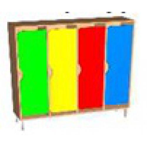 Шкаф д/одежды 4 -х секционный фасад фигурный на м/к цвет