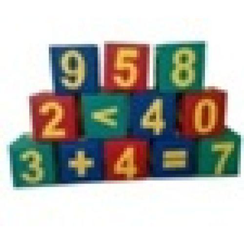 Детские игровые кубики «Математика» (9 модулей) Куб 25*25*25