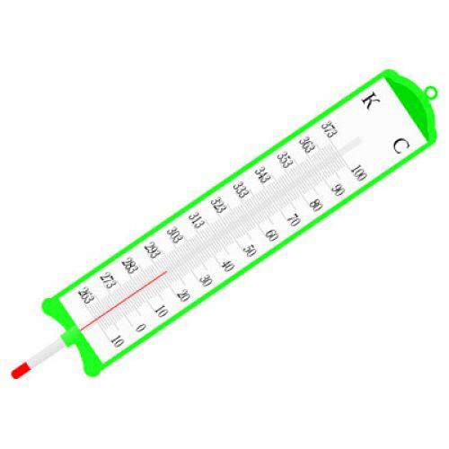 Термометр демонстрационный (шкала -10…+100 °С и 263...373 °К)