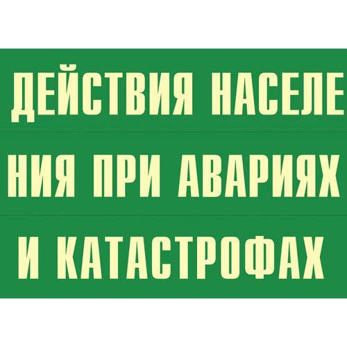 """Комплект плакатов """"Действия населения при авариях и катастрофах"""""""