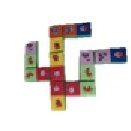 Детское домино с картинками (12 модулей)