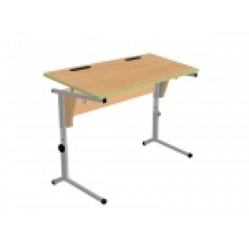 Стол ученический двухместный, регулируемый по высоте и наклону столешницы (0-24°) . (р.гр.№3-5).