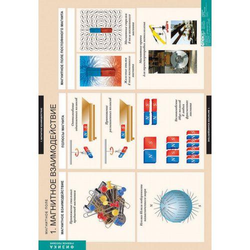 Комплект таблиц. Магнитное поле (12 таблиц)