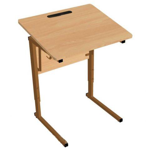 Стол ученический одноместный, регулируемый по высоте (р.гр. №3-6) и наклону столешницы от 0 до 24 гр
