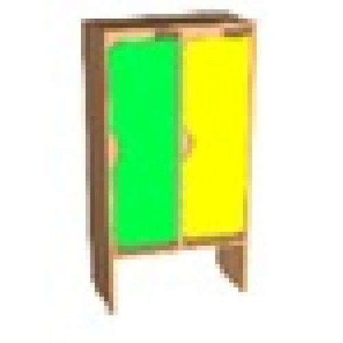 Шкаф д/одежды 2-х секционный фасад фигурный цвет