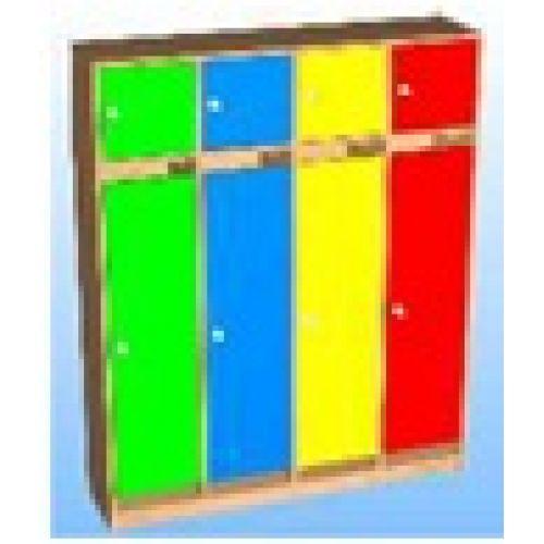 Шкаф д/одежды 4-х секционный фасад прямой с антресолью цвет