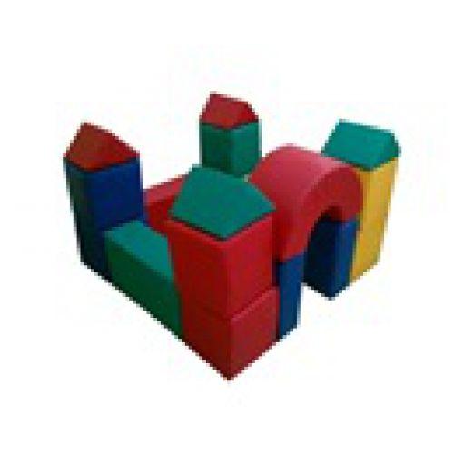 Детский конструктор «Замок»(20 модулей)(Размер: куб 30см)