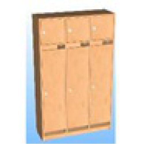 Шкаф д/одежды 3-х секционный фасад прямой с антресолью бук