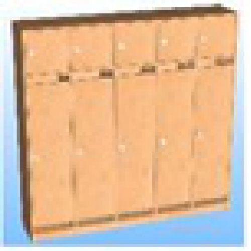 Шкаф д/одежды 5-ти секционный фасад прямой с антресолью бук