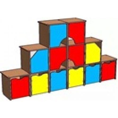"Стенка ""Кубик-рубик"" бук"