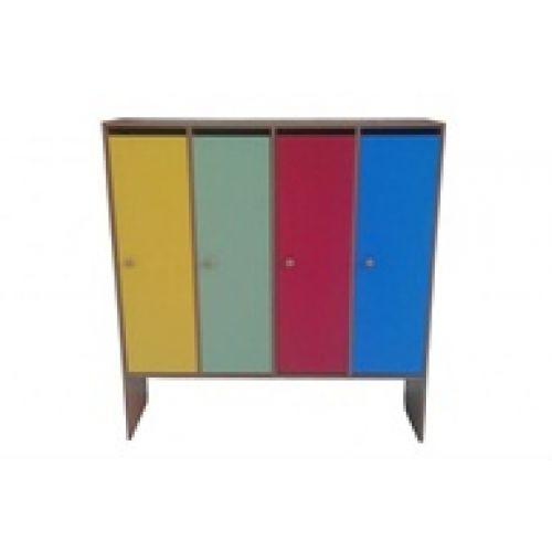 Шкаф детский для одежды 4-х местный цвет
