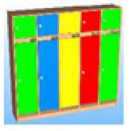 Шкаф д/одежды 5-ти секционный фасад прямой с антресолью цвет