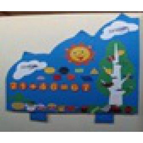 Детское игровое дидактическое панно «Облако»