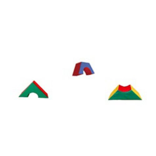 Детский игровой модуль Треугольник с вырезом 60см*60см*30 см