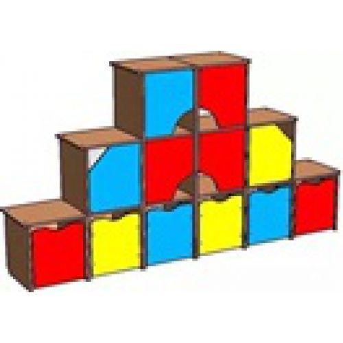 "Стенка ""Кубик-рубик"" цвет"