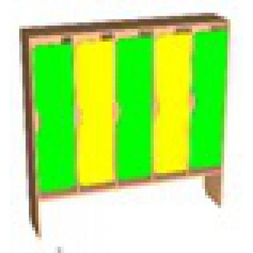 Шкаф д/одежды 5-ти секционный фасад фигурный бук