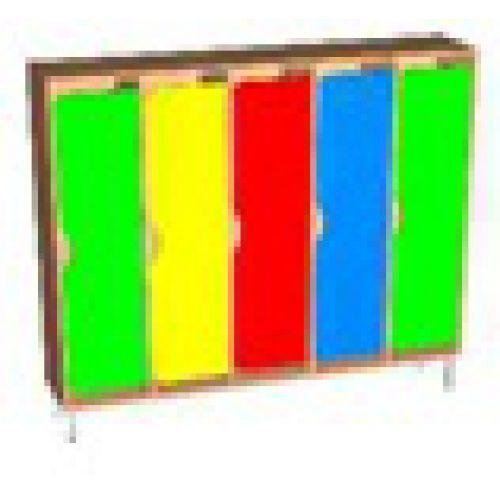Шкаф 5-ти секционный фасад фигурный на м/каркасе бук
