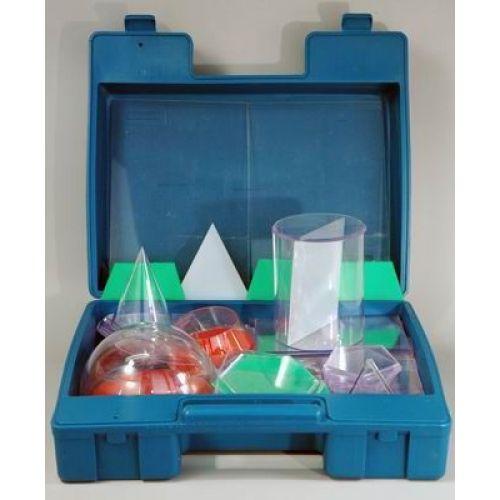Набор геометрических тел прозрачных с сечением (разборный)