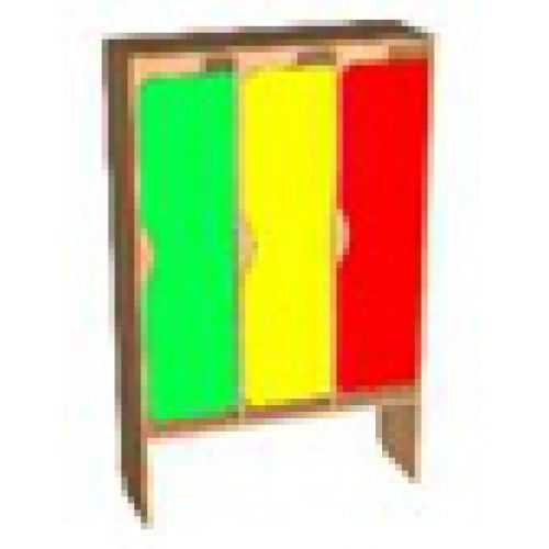 Шкаф д/одежды 3-х секционный фасад фигурный цвет