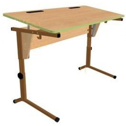 Двухместный стол. Регулируемый по высоте и наклону столешницы (0-24°) .(р.гр.№5-7).