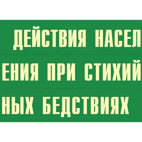 """Комплект плакатов """"Действия населения при стихийных бедствиях"""""""
