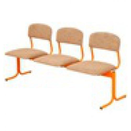 Блок детских стульев 3-местный