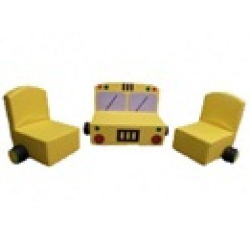 Детский комплект мягкой мебели «Машина»
