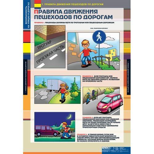 Комплект таблиц. ОБЖ. Безопасность на улицах и дорогах. 12 таблиц + методика