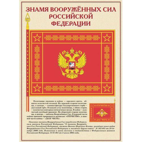 """Комплект плакатов """"Государственные и военные символы Российской Федерации"""""""