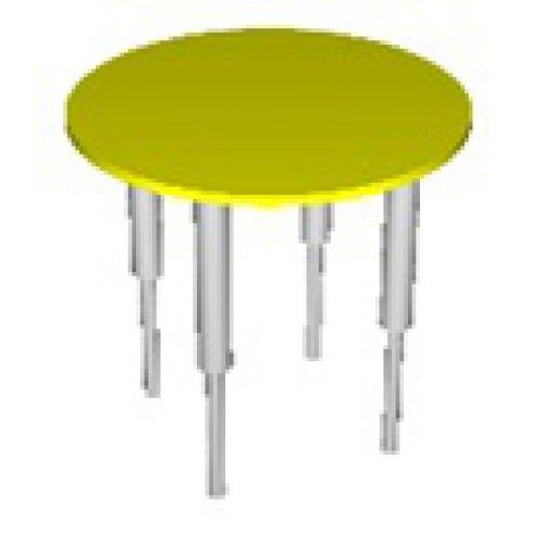 Стол круглый, регулируемый по высоте цвет