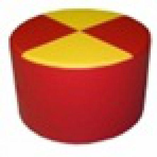 Детский пуф двухцветный Ø 45см*30см.