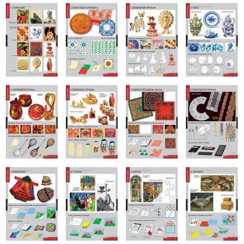 Комплект таблиц Основы декоративно-прикладного искусства